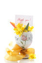 Bouquet Of Yellow Daffodils Stock Photos - 39130973