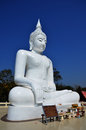 White Buddha At Kanchanaburi Thailand Royalty Free Stock Photography - 39131247