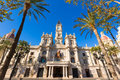 Valencia Ayuntamiento City Town Hall Building Spain Stock Image - 39139551