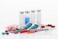 Pharmacology Tablets Vials Syringes Stock Photos - 39142683
