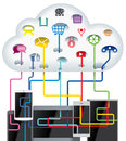 Cloud Technology Royalty Free Stock Photo - 39147045