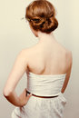 Redhead Bride With Romantic Bun Royalty Free Stock Photography - 39165047