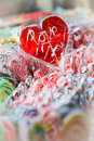 Red Heart Lollipop Royalty Free Stock Photos - 39168598