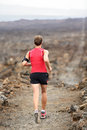 Trail Runner Man Running Cross-country Run Stock Image - 39171991