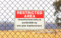 Restricted Area Warning Sign Royalty Free Stock Images - 39172419