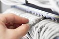 It Consultant Insert Network Cable Stock Image - 39178141