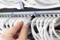 It Consultant Connect Network Cable Stock Image - 39178161