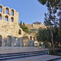 Herodion Theater Under Acropolis, Athens Greece Stock Photography - 39179312