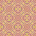 Colorful Graphic Flower Pattern On Pink Background Royalty Free Stock Photography - 39182137