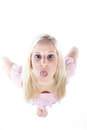 Woman Making Grimaces Royalty Free Stock Photos - 39185918