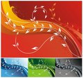 Colorful Floral Backgrounds Stock Image - 3928901