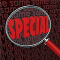 Special Word Magnifying Glass Vs Same Finding Unique Different Q Stock Image - 39236501