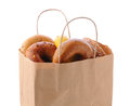 Bag Full Of Bagels Royalty Free Stock Photography - 39240177