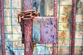 Gate Closed With Lock And Chains Stock Images - 39248524
