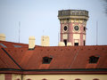 Old Building Tower Taken Over Roof Hood Royalty Free Stock Images - 39249459