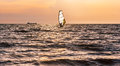 Windsurfing In The Sea Before The Storm Royalty Free Stock Photos - 39258958