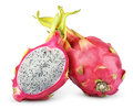Dragon Fruit Or Pitaya Isolated On White Royalty Free Stock Image - 39260716
