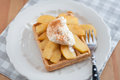 Waffles With Whipped Cream Stock Photography - 39266912