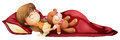 A Young Girl Sleeping Soundly With Her Toy Stock Images - 39271904