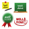 Well Done Labels Stock Photography - 39272672