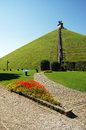 Lion S Mound Near Waterloo Stock Photography - 39280762