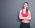Beautiful Young Gym Woman Stock Photography - 39285392