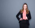 Young Business Woman Smiling Royalty Free Stock Images - 39285459