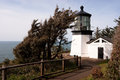 Cape Mears Lighthouse Pacific West Coast Oregon United States Royalty Free Stock Image - 39287886