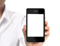 Modern Mobile Phone In  Hand Royalty Free Stock Photography - 39296847