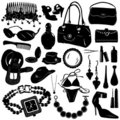 Collection Of Women Accessories Vector Stock Photo - 3930030