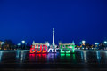 Heroes Square And Budapest Stock Photography - 39308252