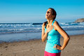 Exhausted Female Runner Suffering Angina Pectoris Royalty Free Stock Images - 39312309