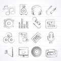 Music, Sound And Audio Icons Stock Photos - 39313553