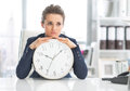 Frustrated Business Woman With Clock Stock Images - 39327254