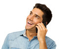 Happy Young Man Using Smart Phone Stock Images - 39330534