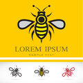Set Of Vector Bee Icons Royalty Free Stock Photography - 39331467