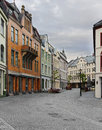 View On Streets And Houses At City Of Alesund Royalty Free Stock Image - 39333326