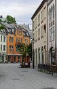 View On Streets And Houses At City Of Alesund Royalty Free Stock Photo - 39333345