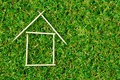 Model House On Green Grass Royalty Free Stock Images - 39345139