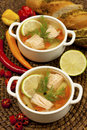 Fish Soup With Vegetables And Salmon Royalty Free Stock Photography - 39348177