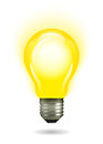 Glowing Yellow Light Bulb As Inspiration Concept Stock Image - 39356511