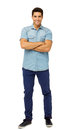 Portrait Of Confident Young Man Standing Arms Crossed Stock Photos - 39365973