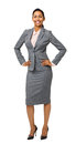 Well-Dressed Businesswoman With Hands On Hips Stock Photography - 39367652