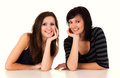 Friendship - Two Best Girlfriends Royalty Free Stock Photo - 39374395