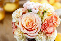 Bouquet Of Roses And Carnations Royalty Free Stock Photos - 39379098