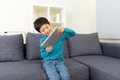 Asia Little Boy Play Tablet Stock Photography - 39385432