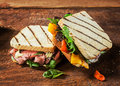 Healthy Toasted Sandwiches From A BBQ Picnic Royalty Free Stock Images - 39391579