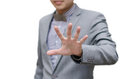 Businessman Show Stop Hand Sign Stock Photo - 39394530