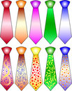Neckties In Different Colors Stock Photography - 3942162