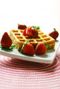 Waffle And Strawberry Stock Photography - 3943482